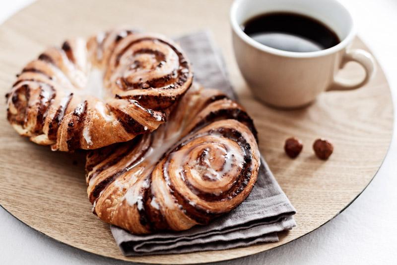 Süßes Gebäck zum Frühstück