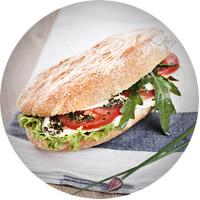 Tomate-Mozzarella Snack